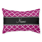 Personalized name magenta moroccan small dog bed