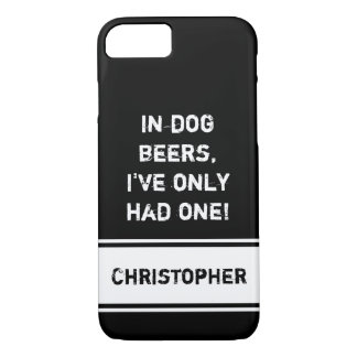 Personalized name Male Black beer quote iPhone 8/7 Case