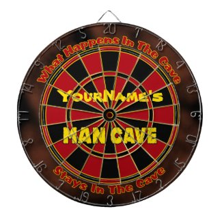 Personalized Name Man Cave Dartboard