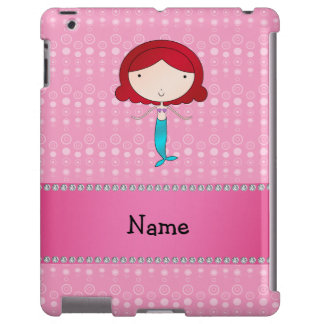 Personalized name mermaid pink bubbles