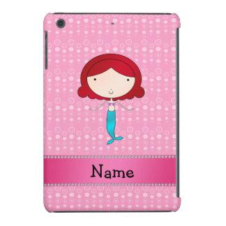 Personalized name mermaid pink bubbles iPad mini retina covers