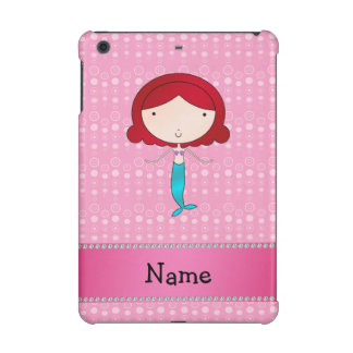 Personalized name mermaid pink bubbles iPad mini cover