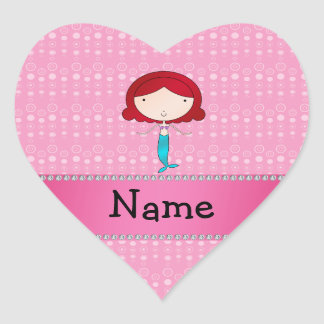 Personalized name mermaid pink bubbles stickers