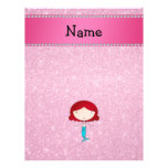 Personalized name mermaid pink glitter flyer