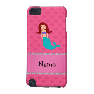Personalized name mermaid pink hearts iPod touch 5G case