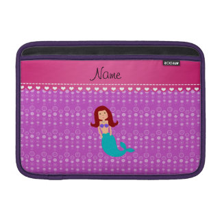Personalized name mermaid purple bubbles sleeves for MacBook air