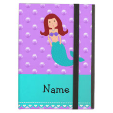 Personalized Name Mermaid Purple Pearls Ipad Air Cover at Zazzle