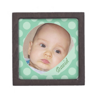 Personalized Name Mint Color Photo Frame Boxes