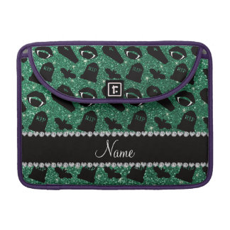Personalized name mint green glitter vampire sleeve for MacBook pro