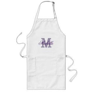 Personalized Name Monogram Apron | Lavender Purple at Zazzle