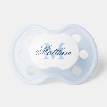 Toddler & Baby themed Personalized name monogram baby pacifier for boys