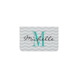 Personalized name monogram business card holder