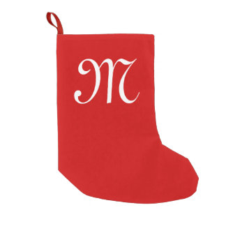 Personalized name monogram Christmas stocking Small Christmas Stocking