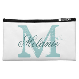 Personalized Name Monogram Cosmetic Bags at Zazzle