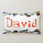 Personalized Name Monogram for David/Boys Lumbar Throw Pillow