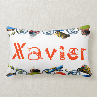 Personalized Name Monogram for Xavier/Boys Lumbar Pillow