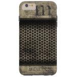 Personalized Name Monogram Grunge Metal Web Tough iPhone 6 Plus Case