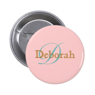 personalized name monogram idea buttons