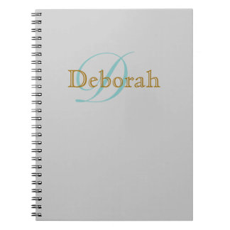 personalized name ~ monogram idea notebook