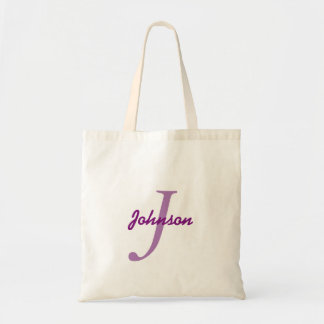 Personalized name monogram lavender purple tote bag