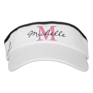 5e2c5816405 Personalized name monogram sport sun visor cap hat