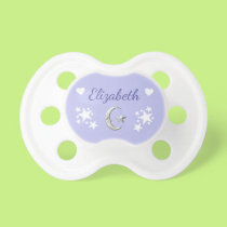 Personalized name Moon & Stars Pacifier