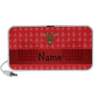Personalized name moose red christmas trees speaker
