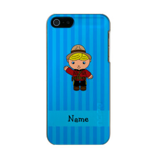 Personalized name mountie blue stripes incipio feather® shine iPhone 5 case