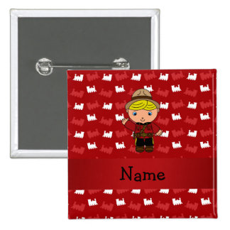 Personalized name mountie red trains pin