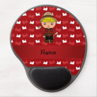 Personalized name mountie red trains gel mouse pad