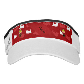 Personalized name mountie red trains headsweats visor
