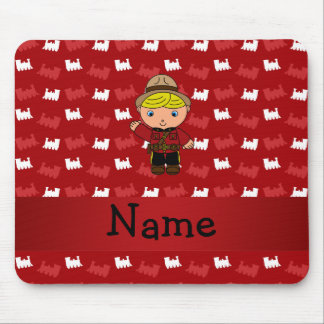 Personalized name mountie red trains mouse pad