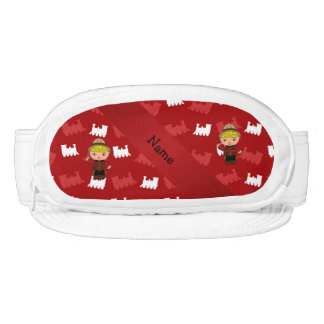 Personalized name mountie red trains visor