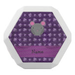 Personalized name mouse purple cats white boombot rex bluetooth speaker