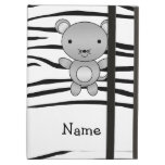 Personalized name mouse zebra stripes iPad covers
