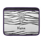 Personalized name mouse zebra stripes MacBook sleeves