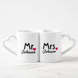 Personalized name Mr and Mrs mug set Couples' Coffee Mug Set
