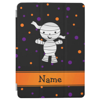 Personalized name mummy purple orange dots iPad air cover