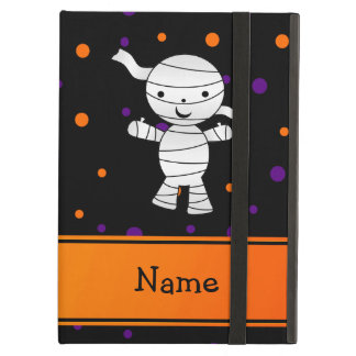 Personalized name mummy purple orange dots iPad air case