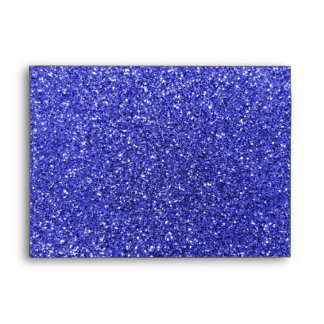 Personalized name mustache neon blue glitter envelope