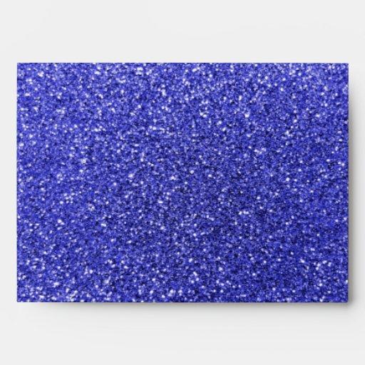 Personalized name mustache neon blue glitter envelopes