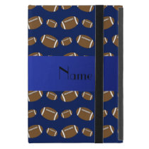 Personalized name navy blue footballs cover for iPad mini