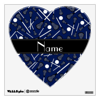 Personalized name navy blue lacrosse wall decor