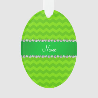 Personalized name neon green chevrons
