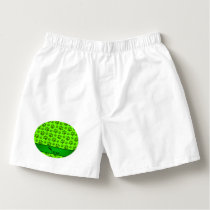 Personalized name neon green dog paws boxers