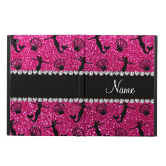 Personalized name neon hot pink glitter mermaids powis iPad air 2 case