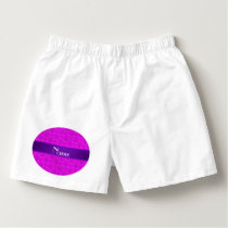 Personalized name neon pink dog paws boxers