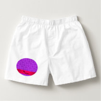 Personalized name neon purple dog paws boxers