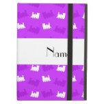 Personalized name neon purple train pattern iPad case