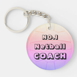 Personalized Name Netball Coach Keychain